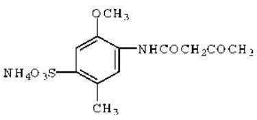 N-Acetoacet Cresidine Sulfonic Acid Ammonium Salt
